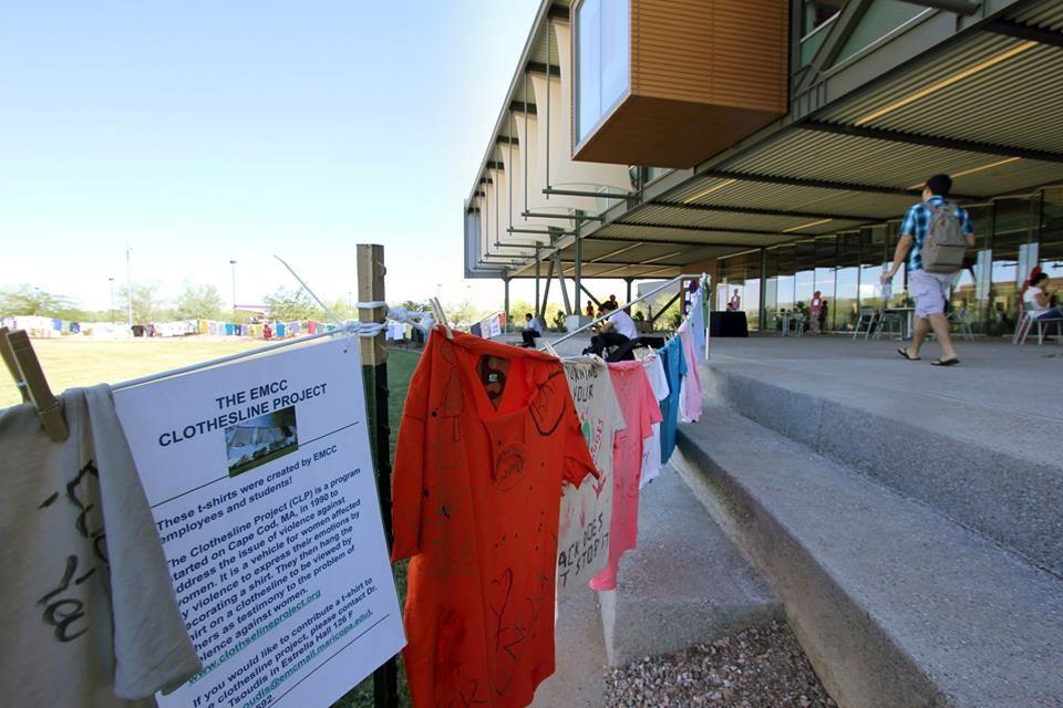 T-shirt exhibit creates canvases for domestic violence stories   Estrella Mountain News  T-shirt exhibit...
