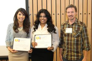EMCC student team tie for 1st place in Oral Presentations (Sanford & Kalsi)