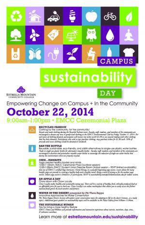 Campus Sustainability Day event flyer
