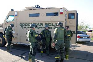 Goodyear SWAT Team prepares for the drill