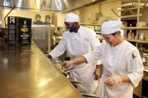 student chefs preparing culinary delights