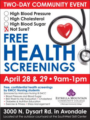 Health Screening Poster
