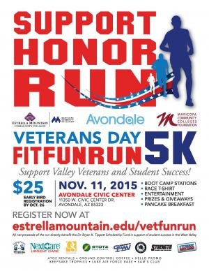 Veterans Day Fun Run Poster