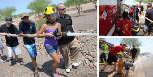 Kid's College Fire Academy offers children first-hand experience into the world of firefighting and emergency services.