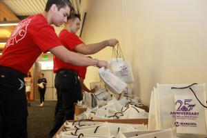 More than 330 care packages were assembled for local first responders and public safety personnel.