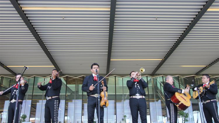 Mariachi musicians perform at a previous Hispanic Heritage Month event.