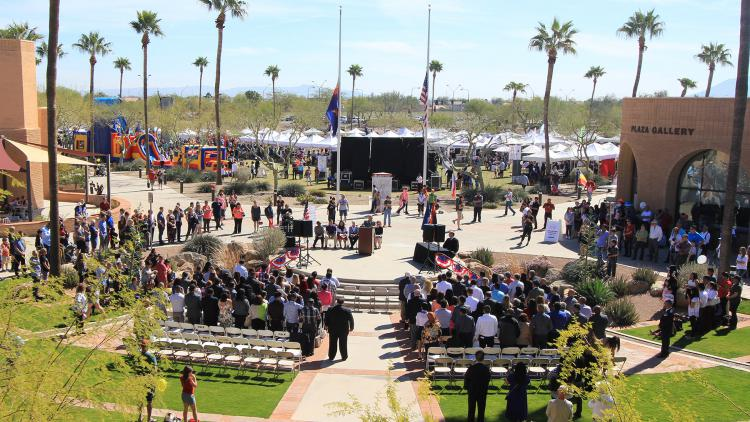Tale of Two Cities naturalization ceremony and festival grounds