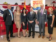 MCCCD Chancellor Dr. Maria Harper-Marinick joins Governor Doug Ducey and other members of the Achieve60 alliance.