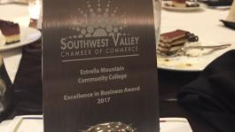 "Southwest Valley Chamber of Commerce 2017 ""Swaggie"" Excellence in Business Award."